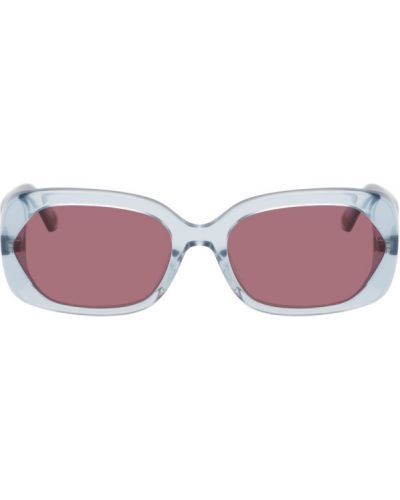 Черные солнцезащитные очки прозрачные прямоугольные Mcq