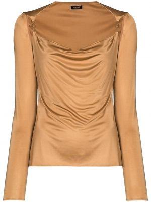Brązowa koszulka z długimi rękawami Versace