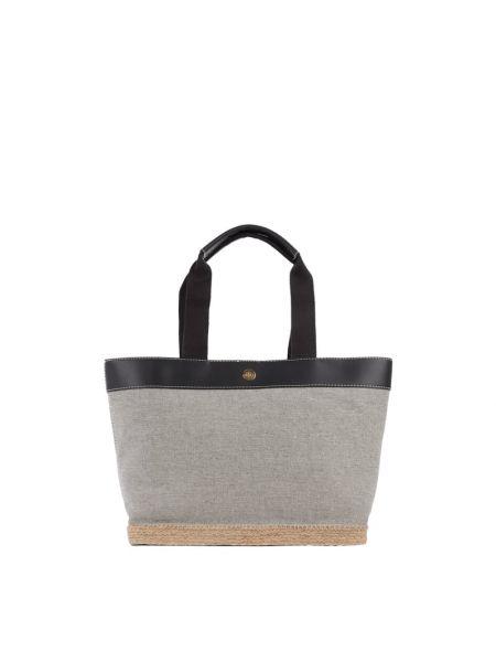 Czarna torebka bawełniana Lauren Ralph Lauren