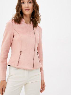 Розовая демисезонная кожаная куртка Gerry Weber