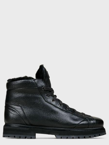 Кожаные ботинки - черные Santoni