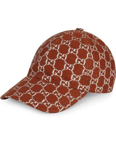 Baseball brązowy wełniany czapka Gucci