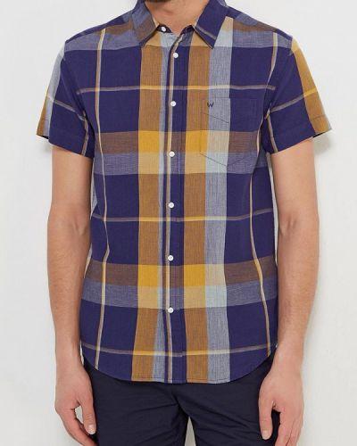 Синяя рубашка с короткими рукавами Wrangler