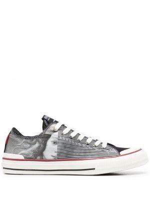 Кружевные белые кроссовки на шнурках Moa Master Of Arts