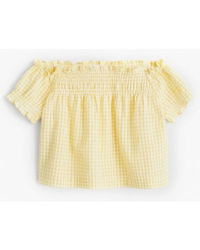 Желтая блузка Mango Kids