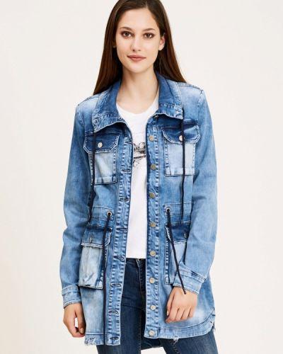 Джинсовая куртка осенняя синий D'she