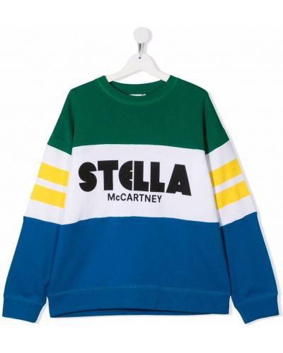 Niebieska bluza bawełniana Stella Mccartney Kids