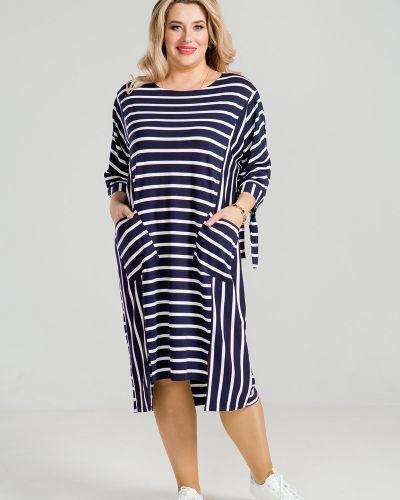 Летнее платье в полоску платье-сарафан Luxury