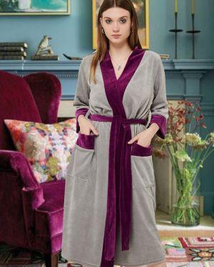 С рукавами повседневный домашний халат Mix-mode
