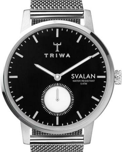 Водонепроницаемые часы черные кварцевые Triwa