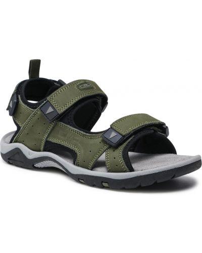 Sandały skórzane - zielone Cmp