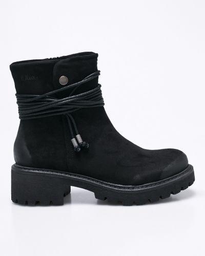 Черные сапоги S.oliver