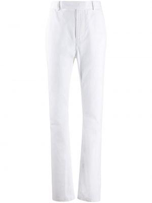 Прямые хлопковые белые брюки с потайной застежкой Haider Ackermann