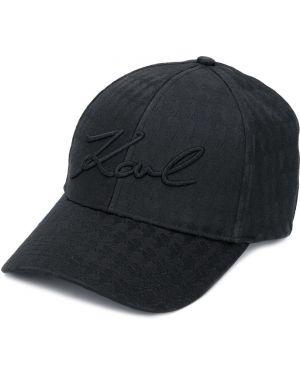 Czapka z logo czarny Karl Lagerfeld