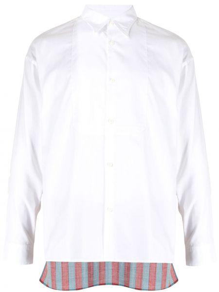 Biała koszula zapinane na guziki Visvim