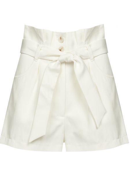 Хлопковые белые шорты с поясом Iro