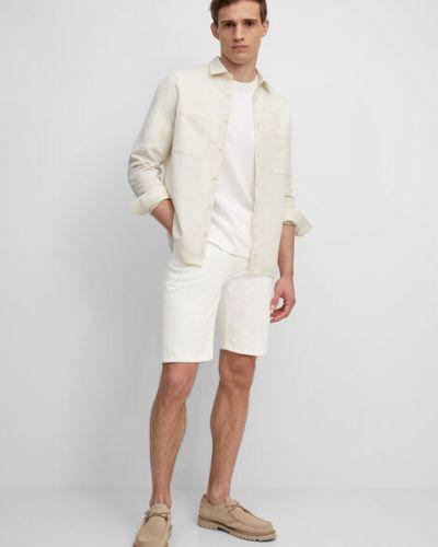 Białe szorty jeansowe bawełniane Marc O Polo