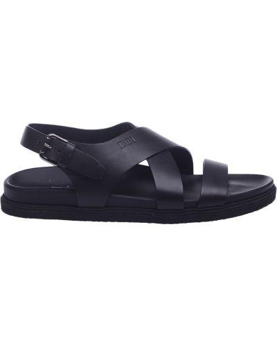 Черные кожаные сандалии Fabi
