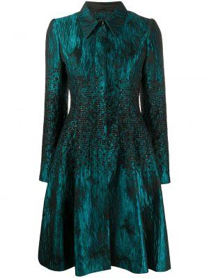Приталенное пальто классическое с воротником с пайетками на пуговицах Talbot Runhof