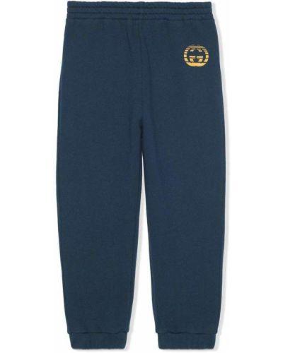 Niebieskie spodnie casual Gucci