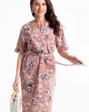 Платье с поясом с цветочным принтом платье-сарафан Lady Taiga