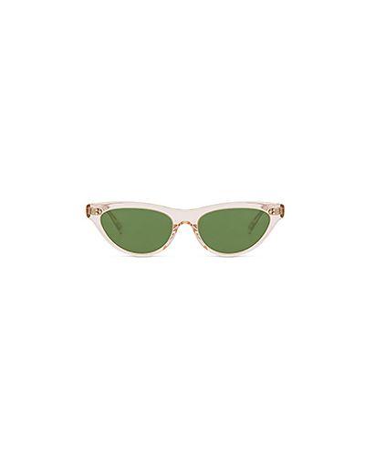 Солнцезащитные очки кожаные Oliver Peoples
