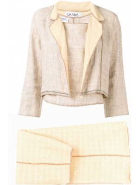 Dom garnitur kostium zabytkowe Chanel Pre-owned