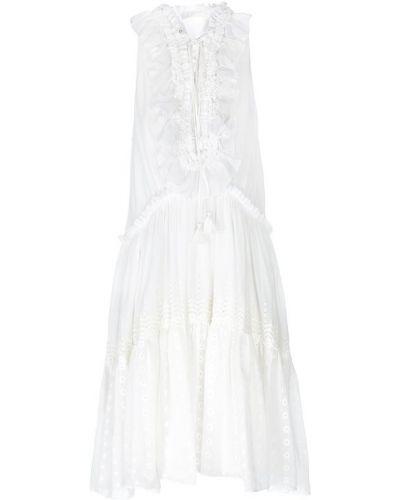 Платье с вышивкой на шнуровке Chloé