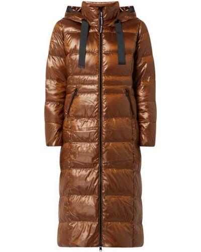 Płaszcz puchowy z kapturem - brązowy Beaumont Amsterdam