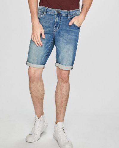Джинсовые шорты хлопковые на пуговицах Tom Tailor Denim