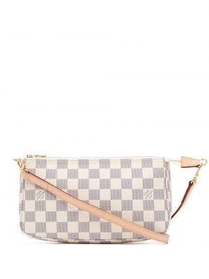 Белая кожаная сумка на плечо винтажная Louis Vuitton