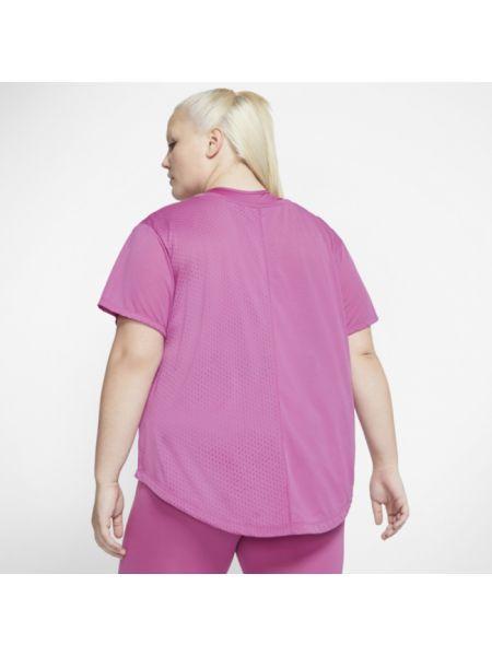 Koszulka polo długo różowy Nike