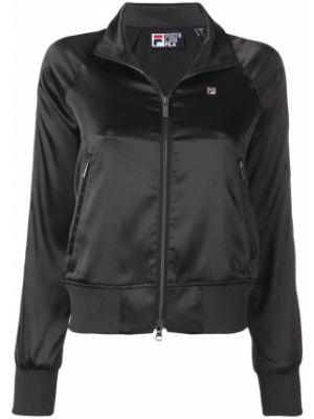 Спортивная куртка с карманами черная Fila