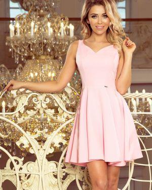 Różowa sukienka rozkloszowana z wiskozy Morimia