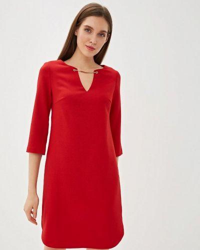 Платье прямое красный Yuna Style