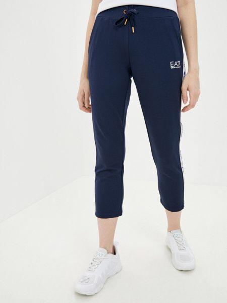Спортивные брюки синие весенний Ea7