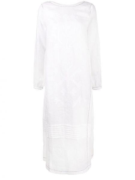 Прямое платье миди с вышивкой на пуговицах с вырезом Vita Kin