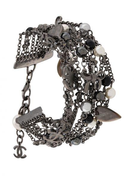 Bransoletka z perłami srebro Chanel Pre-owned