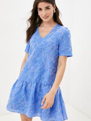 Прямое платье - голубое Mbym