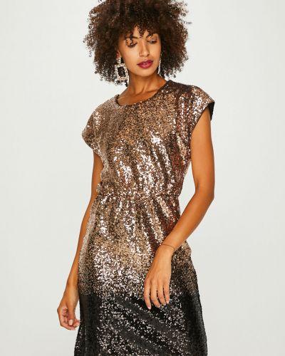 Платье мини с пайетками с поясом Vila