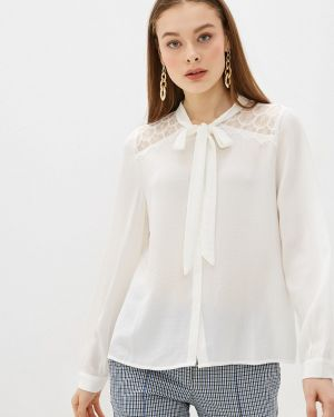 Блузка с бантом белая Sweewe