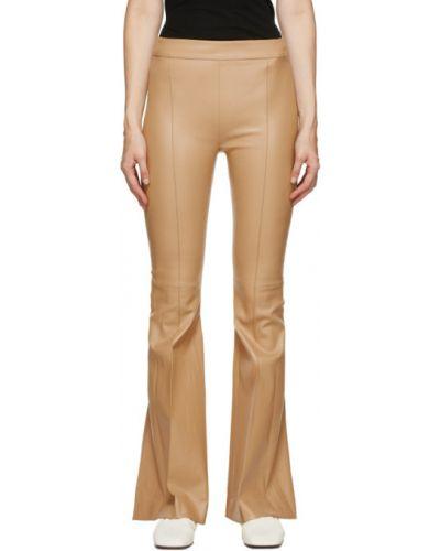 Свободные расклешенные свободные брюки из верблюжьей шерсти Rosetta Getty