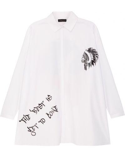 С рукавами белая блузка с воротником Chapurin
