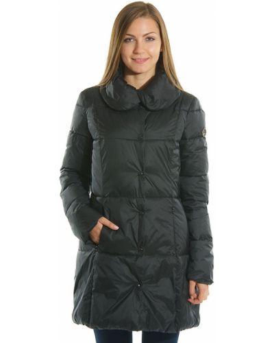 Пальто из полиэстера - черное Armani Jeans