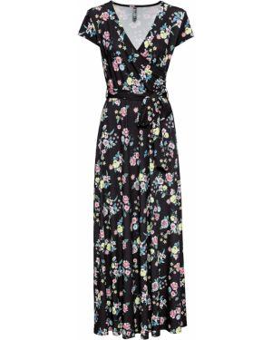 Платье макси с поясом длинное Bonprix