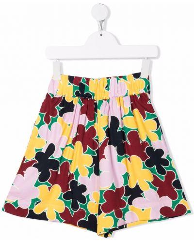 Żółte szorty w kwiaty Marni Kids