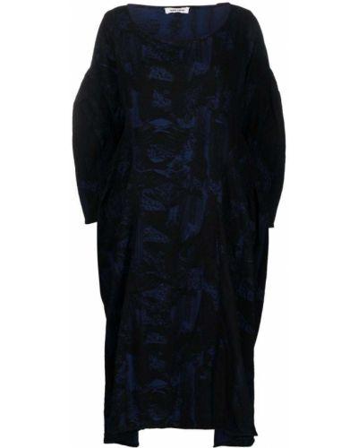 Черное платье с принтом Henrik Vibskov