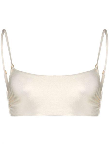 Золотистые белые бикини эластичные на бретелях Melissa Odabash