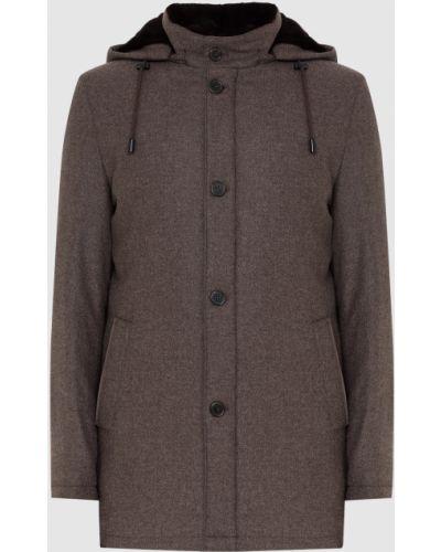 Куртка с мехом - коричневая Enrico Mandelli