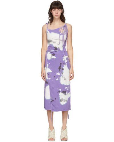 Фиолетовое платье на бретелях с воротником без рукавов Ottolinger